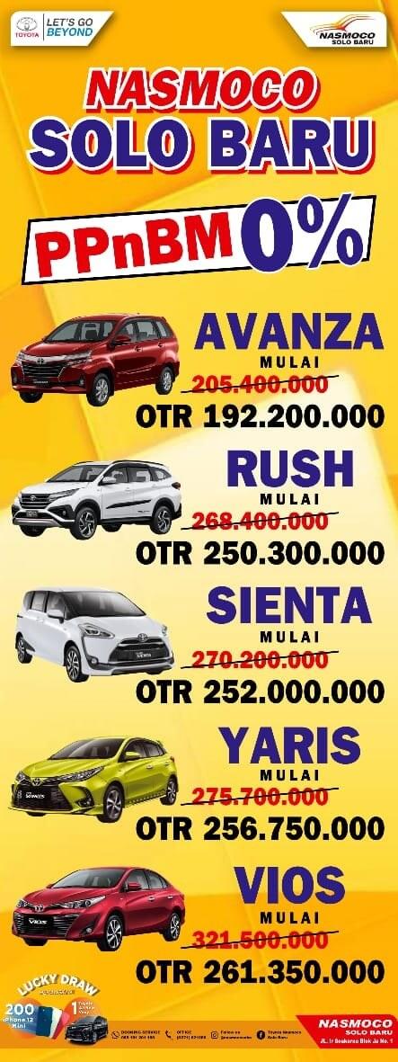 Promo PPNBM 0% Beli Mobil Baru Toyota Banyak Untung Di Dealer Toyota Solo